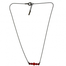Les Femmes à Barbes Necklace Pop Bicolore Red