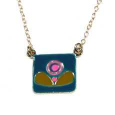 Emmanuelle Biennassis necklace Klimt gold/blue