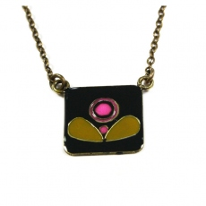 Emmanuelle Biennassis necklace Klimt bronze/black