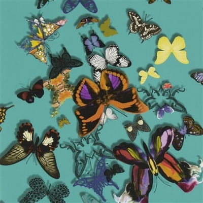 Christian Lacroix Wallpaper Butterfly Parade Lagon