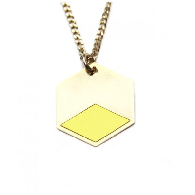 Judith Benita necklace Volt citrus