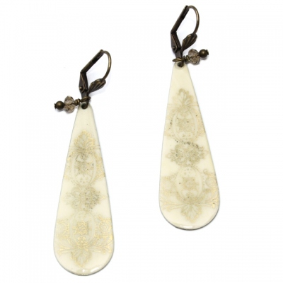 Zalie Smagghe earrings Tampons Ivoire