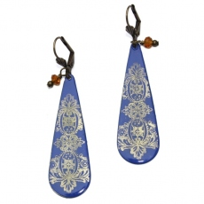 Zalie Smagghe earrings Tampons Bleues