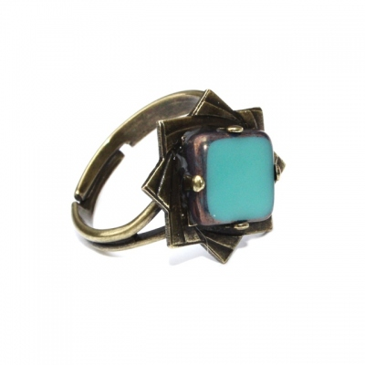 Zalie Smagghe ring Theodora Turquoise