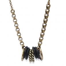 Julie Sion necklace Hula Hoop Noir