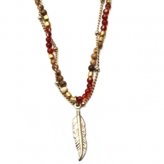 Room Service necklace Nerine Bordeaux