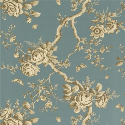 Designers Guild Ashfield Floral tourmaline wallpaper