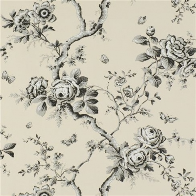 Ralph Lauren papier peint Ashfield Floral etched black