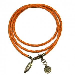 CORALIE DE SEYNES bracelet 4 tours Orange