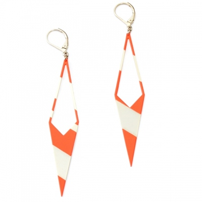 Judith Benita earrings 80's Tangerine