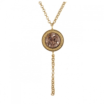 Julie Sion necklace Caillou old rose
