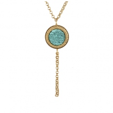 Julie Sion necklace Caillou turquoise
