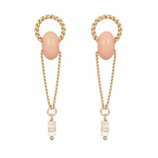 Julie Sion earrings Ring longue saumon