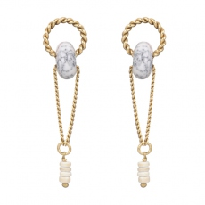 Julie Sion earrings Ring longue blanc