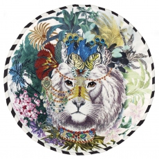 Christian Lacroix cushion Jungle King opiat