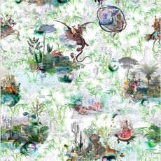 Christian Lacroix Wallpaper Reveries vert buis
