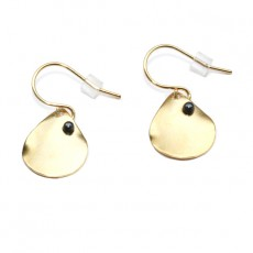 Theodora Gabrielli little earrings plated fine gold grey hematite