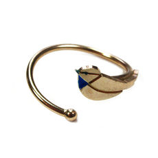 Emmanuelle Biennassis ring Bird gold/blue