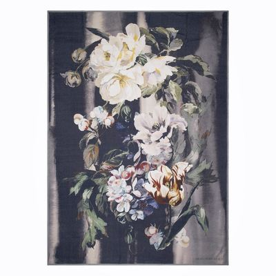 Designers Guild plaid Delft Flower Noir