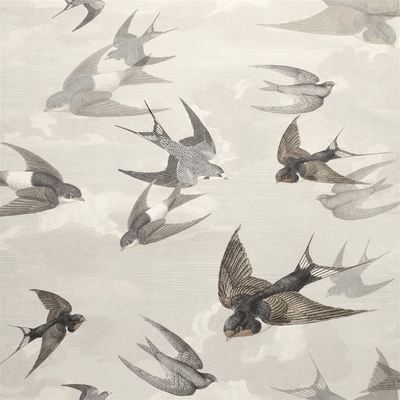 John Derian papier peint Chimney Swallows Dusk