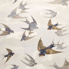 John Derian papier peint Chimney Swallows Dawn