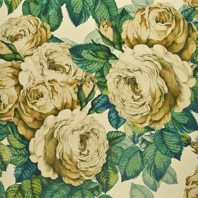 John Derian papier peint The Rose sepia