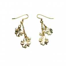 Eva Gozlan earrings gold clover