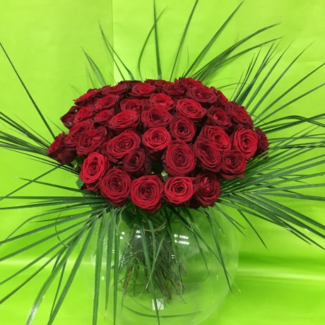 Bouquet passion avec 50 roses rouges