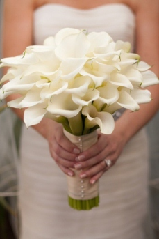Bouquet de callas blancs