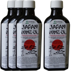Lot de 4 Japan Minz-öl à l'huile de menthe du japon - (Lot 211)