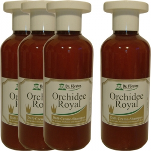 Lot de 4 shampooings anti chute de cheveux parfumés à l'Orchidée royale