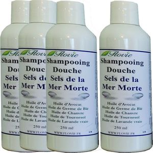 Lot de 4 Shampooings douche aux sels de la mer morte