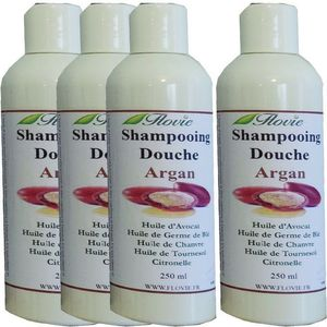 Lot de 4 Shampooings douche Argan