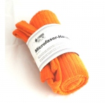 Serviette de douche microfibre orange 100 x 80