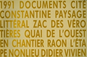 Vivien Didier 1991 documents - ISBN 2950695507.