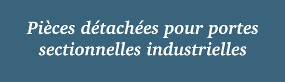 Pieces d tachees hormann - Pieces detachees porte sectionnelle hormann ...
