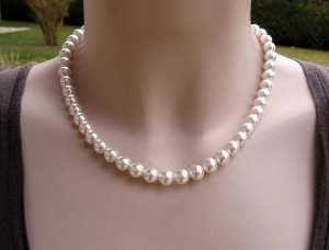 Collier Clio Perles Blanches