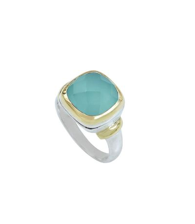 Bague Clio Blue Argent Massif Victoire chalcedony