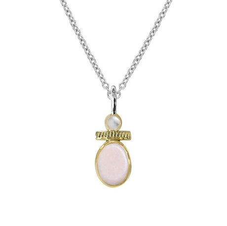 Collier Canyon en argent 925 Pierre opale rose