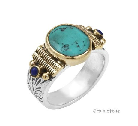Bague Argent Canyon Pierre turquoise