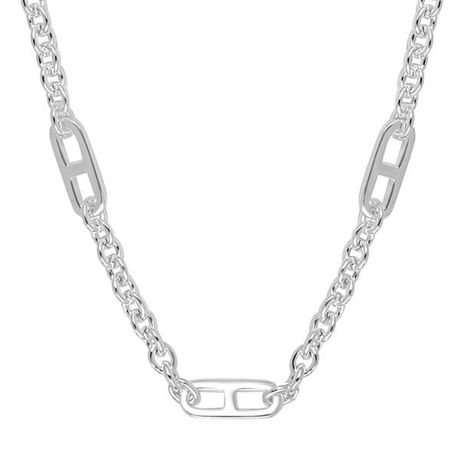 Collier Canyon en argent 925 3 mailles marines rectangulaire