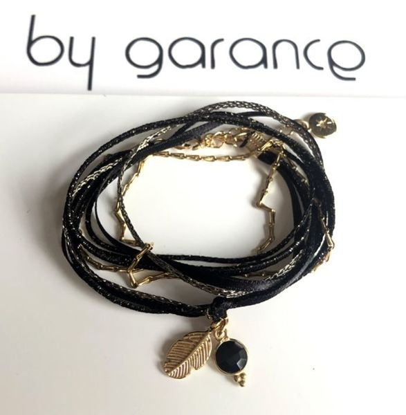 Bracelet By Garance Mini plumy noir