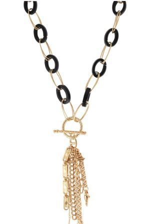Collier Gas Escale charms gm acétate or