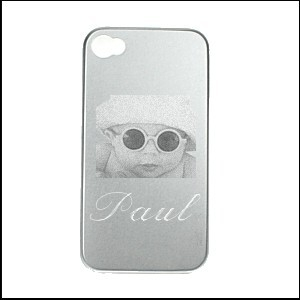 Coque I phone gris  4 - 4S