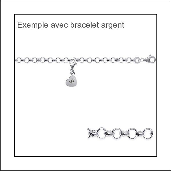 Charms Coeur argent 925/000