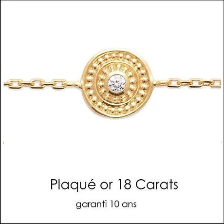 Bracelet tasco Plaqué or 18 K