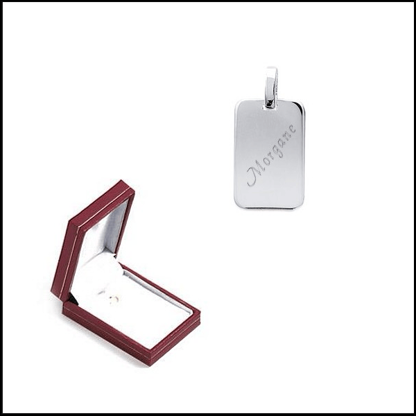 Médaille rectangle argent