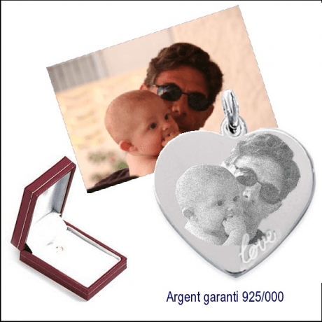 Grand coeur argent 925/000