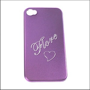 Coque I phone violet 4 - 4S