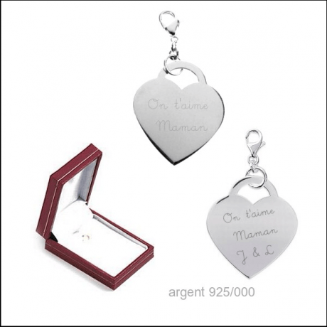 Coeur argent 925/000 charms -30%